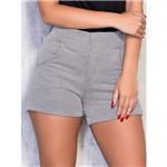 Shorts Alfaiataria com Detalhe em Cirrê M