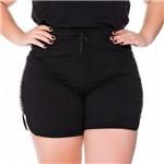 Shorts Bordado Barra Arredondada Plus Size P