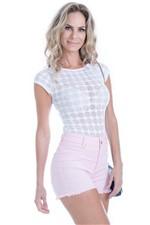 Shorts Candy Collor Cintura Alta SH0235 - Kam Bess
