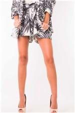 Shorts Clochard Cintura Alta Estampado SH0369 - Kam Bess