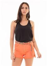 Shorts com Cinto Personalizado Avulso - Coral 40
