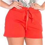 Shorts com Ziper e Cordão M