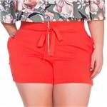 Shorts com Ziper e Cordao Plus Size P