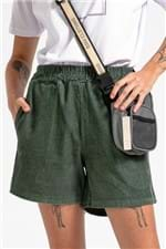 Shorts Cotelê Green-PP