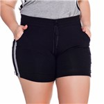Shorts de Malha Plus Size Listra Lateral M