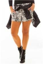 Shorts de Moletinho Estampado SH0363 - Kam Bess