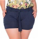 Shorts em Malha com Amarracao Plus Size M