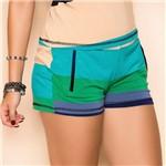 Shorts em Malha Listrado M