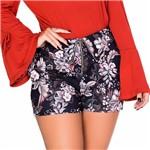 Shorts Estampado com Cós Diferenciado