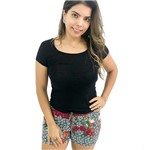 Shorts Estampado com Tape Lateral M