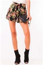 Shorts Feminino Estampa Floral com Amarração SH0359 - Kam Bess
