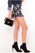 Shorts Feminino Estampado com Babados SH0347 - Kam Bess