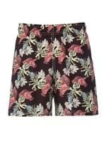 Shorts Floral Preto Tamanho G
