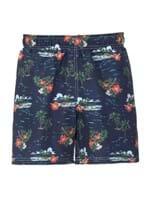 Shorts Hawai Estampado Azul Tamanho GG