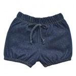 Shorts Infantil Grow Up Menina em Cotton Blue Denim
