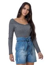 Shorts Jeans Clochard com Amarração