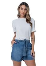 Shorts Jeans com Amarração
