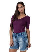 Shorts Jeans com Elástico no Cós