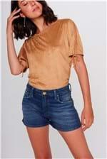 Shorts Jeans Solto Feminino