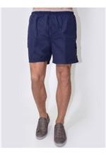 Shorts Microfibra Azul Marinho-M