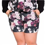 Shorts Plus Size de Moletom com Sublimação e Bordado Manual
