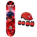 Skate Ladybug com Acessórios - Fun Divirta-se