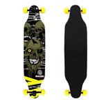 Skate Longboard Profissional Completo Abec 15 3 Caveiras - Maori Extreme