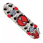 Skate Marvel Spider Man Teia Preto e Branco - Dtc
