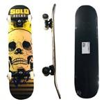 Skate Solo Montado Profissional Skull Yellow