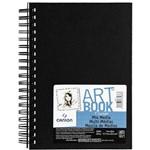 Sketchbook Art Book Mix Media 224 G/m² 17,7 X 25,4 Cm com 40 Folhas Canson