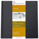 Sketchbook D&s 140 G/m² 25 X 25 com 80 Folhas Capa Preta Hahnemuhle