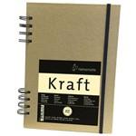 Sketchbook Kraft 120 G/m² A-5 com 80 Folhas com Espiral Hahnemuhle