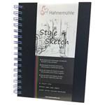 Sketchbook Style Espiral Azul 120 G/m² A-5 com 64 Folhas Hahnemuhle