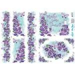 Slim Paper Decoupage Lili Negrão 33,8 X 47,3 Cm - SPL1-008 Violeta