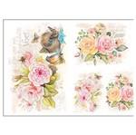 Slim Paper Decoupage Litoarte 47,3x33,8 SPL-002 Flores Aquarela