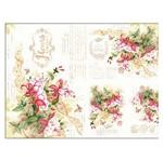 Slim Paper Decoupage Litoarte 47,3x33,8 SPL-003 Flores Brinco de Princesa