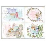 Slim Paper Decoupage Litoarte 47,3x33,8 SPL-008 Fadas e Flores