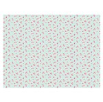 Slim Paper Decoupage Litoarte 47,3x33,8 SPL-027 Rosas Fundo Verde