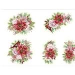 Slim Paper Decoupage Natal Litoarte 47,3x33,8 SPLN-005 Rosas e Poinsétias