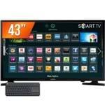 "Smart TV LED 43"" Full HD Samsung 43J5200 com Teclado K400 Logitech"