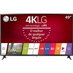 "Smart TV LED 49"" LG 49UJ6300 LED ULTRA HD com Conversor Digital Wi-Fi Integrado 3 HDMI 2 USB 2 Sistema WebOS 3.5 de Som Ultra Surround"