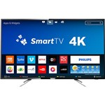 "Smart TV LED 55"" Philips 55PUG6102/78 UHD 4K com Conversor Digital 4 HDMI 2 USB Wi-Fi 60Hz"