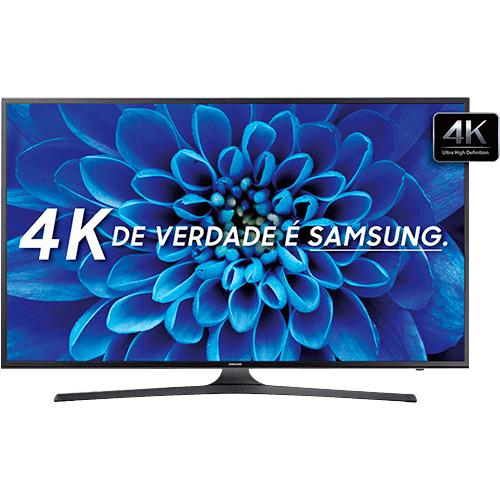 "Smart TV LED 55"" Samsung KU6000 Ultra HD 4K com Conversor Digital 2 USB 3 HDMI 60Hz"