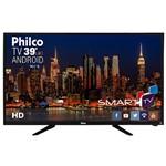 "Smart TV LED 39"" Philco PH39N91DSGWA HD com Conversor Digital 2 HDMI 2 USB Wi-Fi Android"