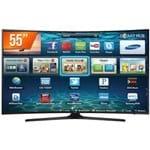 Smart TV LED Curva Tela 55'' Ultra HD 4K Samsung 55MU6300 3 HDMI 2 USB Wi-Fi Conversor Digital