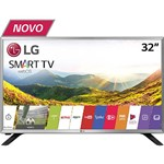 "Smart TV LED 32"" LG 32LJ550B HD com Conversor Digital 2 HDMI 1 USB Wi-Fi 60Hz Preta"