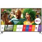 "Smart TV LG LED 49"" Ultra 4K HD 49UJ6525 com Conversor Digital 4 HDMI 2 USB 120Hz Painel Ips, WebOS 3.5, HDR e Magic Mobile"