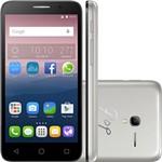 "Smartphone Alcatel OT-5016J Dual Chip Android Tel 5"" Processador Quad Core 1.3GHz8GB 3G/Wi-FI CÃMERA 8MP - Prata + Capa Dourada"