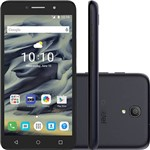 "Smartphone Alcatel Pixi4 Dual Chip Android 5.1 Lollipop Tela 6"" Quad Core 8 GB 3G Wi-Fi Câmera 13MP - Preto"