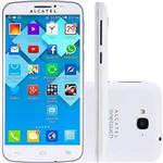"""Smartphone Alcatel Pop C7 Dual Chip Desbloqueado Android 4.2 Tela 5"""" 4GB 3G Câmera 8MP - Branco"""